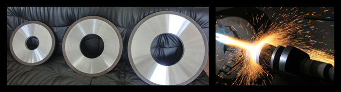 resin diamond wheel for thermal spraying coating