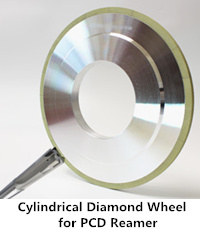 cylindrical diamond grinding wheel for pcd reamer